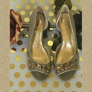 Laura Ashley Calalily jeweled pumps 7 1/2